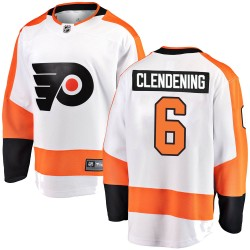 Adam Clendening Philadelphia Flyers Men's Fanatics Branded White Breakaway Away Jersey
