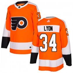 Alex Lyon Philadelphia Flyers Men's Adidas Authentic Orange Home Jersey