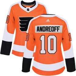 Andy Andreoff Philadelphia Flyers Women's Adidas Authentic Orange ized Home Jersey
