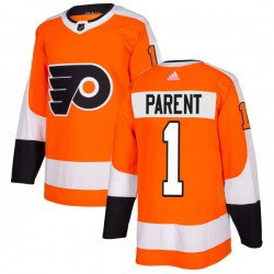 Bernie Parent Philadelphia Flyers Men's Adidas Authentic Orange Jersey