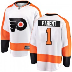 Bernie Parent Philadelphia Flyers Men's Fanatics Branded White Breakaway Away Jersey