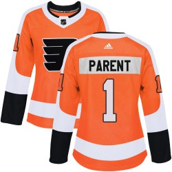 Bernie Parent Philadelphia Flyers Women's Adidas Authentic Orange Home Jersey
