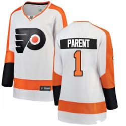 Bernie Parent Philadelphia Flyers Women's Fanatics Branded White Breakaway Away Jersey