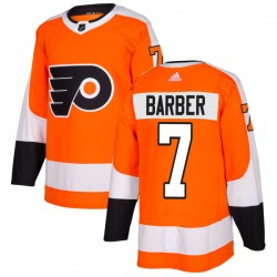 Bill Barber Philadelphia Flyers Men's Adidas Authentic Orange Jersey