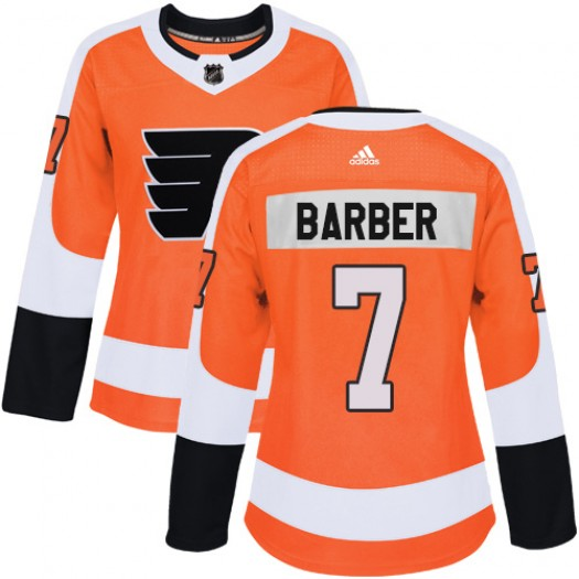 Bill Barber Philadelphia Flyers Women's Adidas Authentic Orange Home Jersey