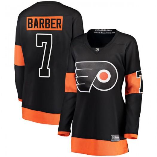 Bill Barber Philadelphia Flyers Women's Fanatics Branded Black Breakaway Alternate Jersey