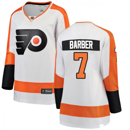 Bill Barber Philadelphia Flyers Women's Fanatics Branded White Breakaway Away Jersey