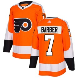 Bill Barber Philadelphia Flyers Youth Adidas Authentic Orange Home Jersey