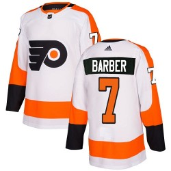 Bill Barber Philadelphia Flyers Youth Adidas Authentic White Away Jersey