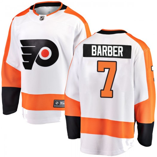 Bill Barber Philadelphia Flyers Youth Fanatics Branded White Breakaway Away Jersey