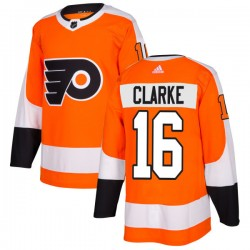 Bobby Clarke Philadelphia Flyers Men's Adidas Authentic Orange Jersey