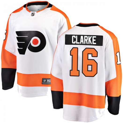 Bobby Clarke Philadelphia Flyers Men's Fanatics Branded White Breakaway Away Jersey