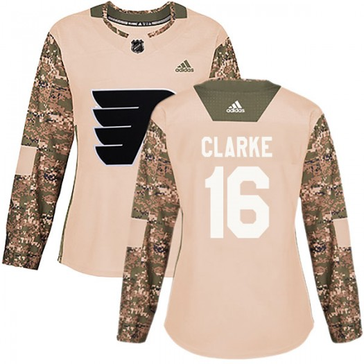 Bobby Clarke Philadelphia Flyers Women's Adidas Authentic Camo Veterans Day Practice Jersey