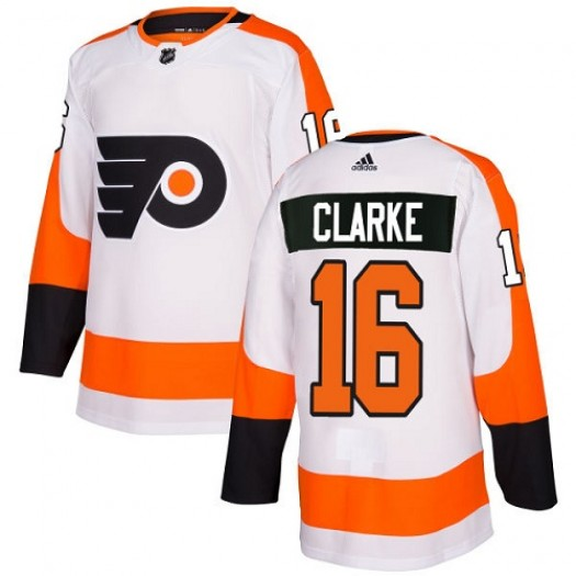 Bobby Clarke Philadelphia Flyers Youth Adidas Authentic White Away Jersey