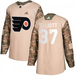 Brian Elliott Philadelphia Flyers Men's Adidas Authentic Camo Veterans Day Practice Jersey