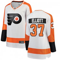 Brian Elliott Philadelphia Flyers Women's Fanatics Branded White Breakaway Away Jersey