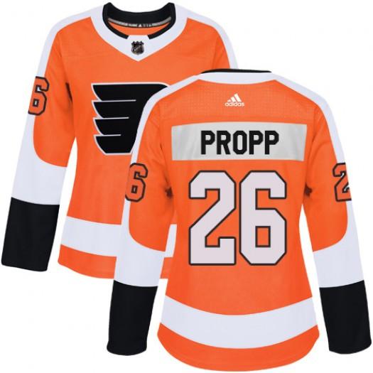 Brian Propp Philadelphia Flyers Women's Adidas Authentic Orange Home Jersey