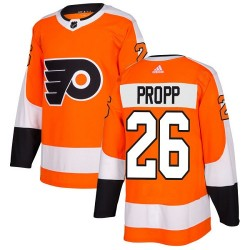 Brian Propp Philadelphia Flyers Youth Adidas Authentic Orange Home Jersey