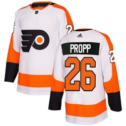 Brian Propp Philadelphia Flyers Youth Adidas Authentic White Away Jersey