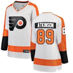 Cam Atkinson Philadelphia Flyers Women's Fanatics Branded White Breakaway Away Jersey