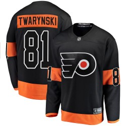 Carsen Twarynski Philadelphia Flyers Men's Fanatics Branded Black Breakaway Alternate Jersey