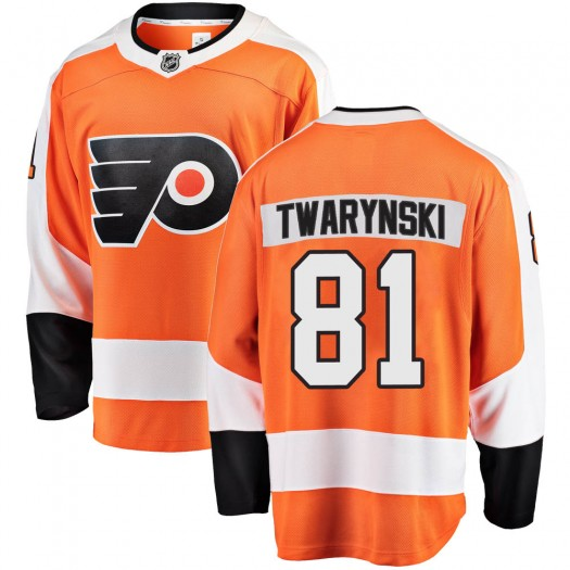 Carsen Twarynski Philadelphia Flyers Men's Fanatics Branded Orange Breakaway Home Jersey