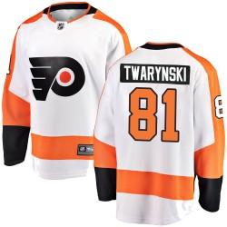 Carsen Twarynski Philadelphia Flyers Men's Fanatics Branded White Breakaway Away Jersey