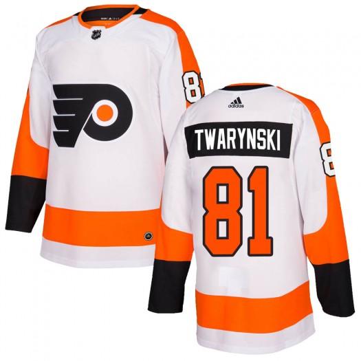 Carsen Twarynski Philadelphia Flyers Youth Adidas Authentic White Jersey