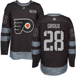 Claude Giroux Philadelphia Flyers Men's Adidas Authentic Black 1917-2017 100th Anniversary Jersey