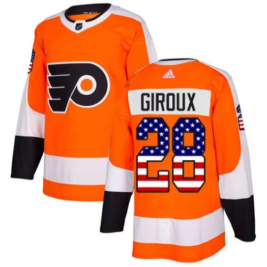 Claude Giroux Philadelphia Flyers Men's Adidas Authentic Orange USA Flag Fashion Jersey