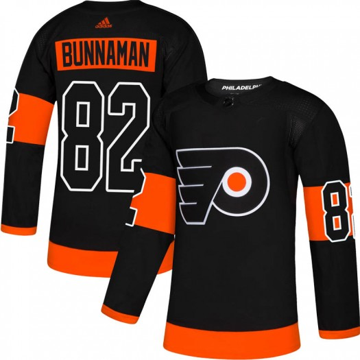 Connor Bunnaman Philadelphia Flyers Men's Adidas Authentic Black Alternate Jersey
