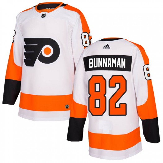 Connor Bunnaman Philadelphia Flyers Men's Adidas Authentic White Jersey