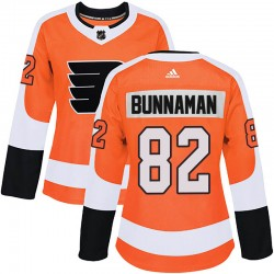 Connor Bunnaman Philadelphia Flyers Women's Adidas Authentic Orange Home Jersey
