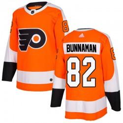 Connor Bunnaman Philadelphia Flyers Youth Adidas Authentic Orange Home Jersey