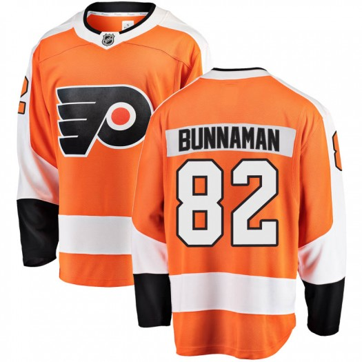 Connor Bunnaman Philadelphia Flyers Youth Fanatics Branded Orange Breakaway Home Jersey