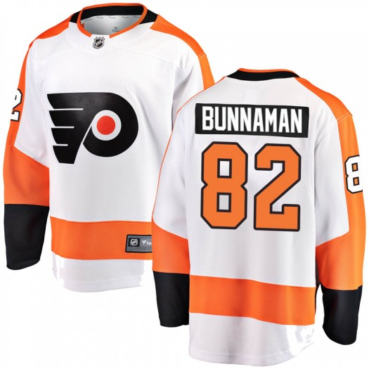 Connor Bunnaman Philadelphia Flyers Youth Fanatics Branded White Breakaway Away Jersey