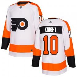 Corban Knight Philadelphia Flyers Men's Adidas Authentic White Jersey