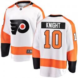 Corban Knight Philadelphia Flyers Youth Fanatics Branded White Breakaway Away Jersey