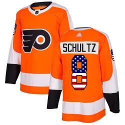 Dave Schultz Philadelphia Flyers Men's Adidas Authentic Orange USA Flag Fashion Jersey