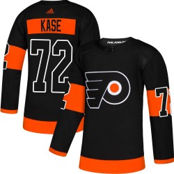 David Kase Philadelphia Flyers Men's Adidas Authentic Black Alternate Jersey