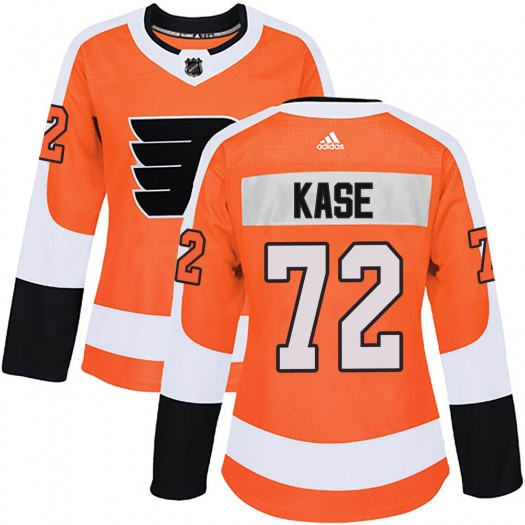 David Kase Philadelphia Flyers Women's Adidas Authentic Orange Home Jersey