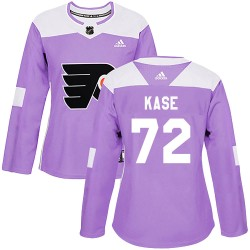 David Kase Philadelphia Flyers Women's Adidas Authentic Purple Fights Cancer Practice Jersey