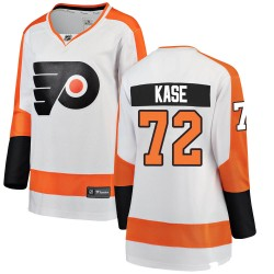 David Kase Philadelphia Flyers Women's Fanatics Branded White Breakaway Away Jersey
