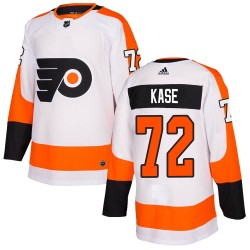David Kase Philadelphia Flyers Youth Adidas Authentic White Jersey