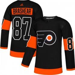 Donald Brashear Philadelphia Flyers Men's Adidas Authentic Black Alternate Jersey