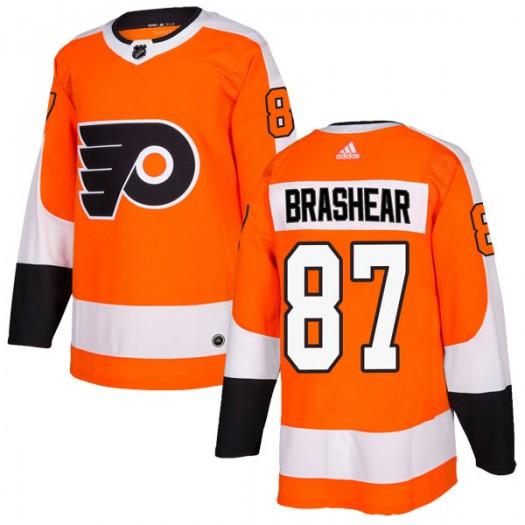Donald Brashear Philadelphia Flyers Men's Adidas Authentic Orange Home Jersey