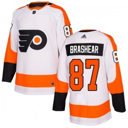 Donald Brashear Philadelphia Flyers Men's Adidas Authentic White Jersey