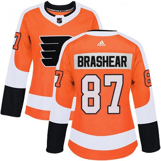 Donald Brashear Philadelphia Flyers Women's Adidas Authentic Orange Home Jersey