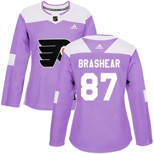 Donald Brashear Philadelphia Flyers Women's Adidas Authentic Purple Fights Cancer Practice Jersey