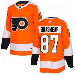 Donald Brashear Philadelphia Flyers Youth Adidas Authentic Orange Home Jersey